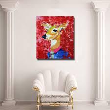 100 home decor red deer diy painting by numbers kit swan