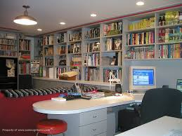 home office design books www aadesignbuild com film critic s home office finished basement