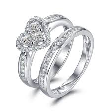 women s engagement rings heart cut white sapphire 925 sterling silver women s engagement