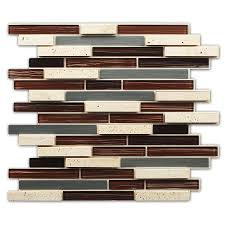 peel and stick glass tile backsplash instant mosaic 12 in x 12 in