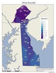 Snowfall Totals Map Cold And Snowy Conditions Dominate Delaware U0027s 2014 15 Winter