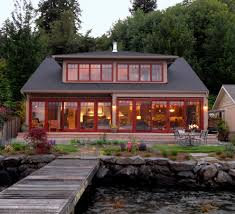 dormer window ideas exterior beach style with red trim red framed