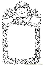 autumn frame coloring page free autumn coloring pages