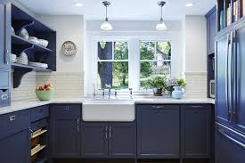 blue kitchen cabinets in cabin beautiful blue kitchen cabinet ideas
