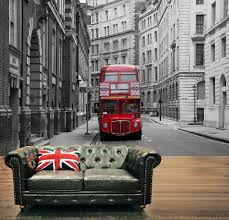 london city red bus union jack wall mural wallpapers decor photo 1 x red london city bus union jack feature wall mural decor photo wallpapers art 217