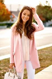 light pink wool coat we are seeing a lot of colorful coats and ideas just the