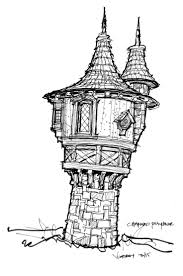 Visbeen House Plans Rapunzels Tower Sketch Solid Wood Handcrafted Luxury Playhouse