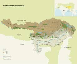 Himalayan Mountains Map The Brahmaputra River Basin Grid Arendal