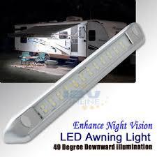 rv outside led lights 12v 9 84 silver led awning porch light rv caravan boat garden patio