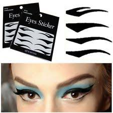 big eye temporary tattoo smokey makeup eyeliner stickers transfer