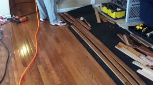 How To Install Laminate Flooring Over Plywood How To Install Prefinished Hardwood Flooring Youtube