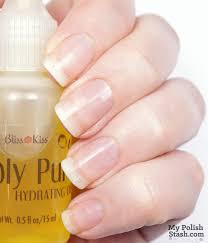 my polish stash review bliss kiss simply pure u0026 sweet baby nail oil
