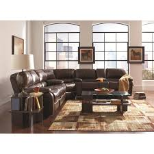 a plus home furnishings alan three piece reclining sectional