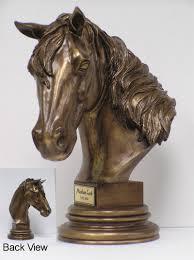 horse bust keepsake urn