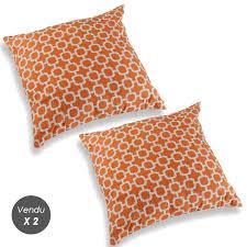 coussins orange coussin orange à 28 90 coussin déhoussable yesdeko