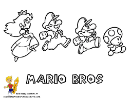 mario friends coloring pages coloring