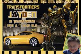 transformers invitations template best template collection