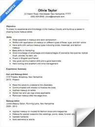 Resume Portfolio Examples by 7 Beginner Makeup Artist Resume Sample Resumes Sample Resumes
