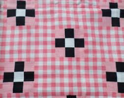 Pink Gingham Curtains Pink Gingham Curtain Etsy