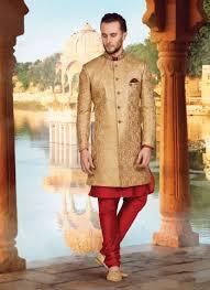 buy indo western for men achkan style sherwani black