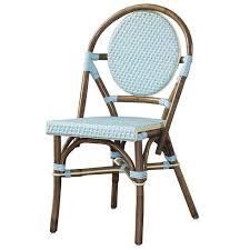 White Bistro Chair French Bistro Woven Chairs White Lane Decor
