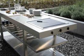 plan cuisine exterieure d ete cuisine d été avec plan de travail en inox so inox