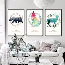 Nordic Home Compare Prices On Wolf Painting Bear Online Shopping Buy Low