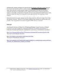 Universities As Multinational Enterprises The Multinational Course Work For International Business Roles Of Multi National Enterp