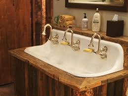 Trough Bathroom Sink With Two Faucets by Bathroom Remarkable Trough Bathroom Sink With Two Faucets