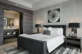 chambre a coucher noir et gris design interieur chambre coucher adulte murs gris lambris bois