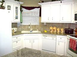 small kitchen corner cabinet kitchen single sink with white countertop and wooden floor