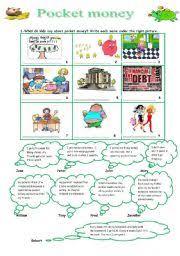 english teaching worksheets pocket money
