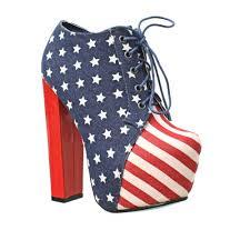American Flag Shoes Ladies American Flag Stars And Stripe Platform High Heel Ankle