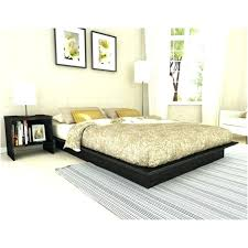Headboard For Platform Bed Bed Frame No Headboard Basic Platform Bed Frame In Wood