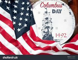 Christopher Columbus Flag Happy Columbus Day United States Flag Stock Photo 727188004