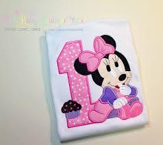 baby minnie mouse lavender pink girls birthday shirt