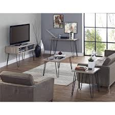 oak end tables and coffee tables ameriwood home owen retro coffee table distressed gray oak