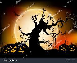 light halloween background halloween moon light night background dead stock vector 114472579