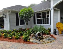 no grass landscape ideas for front yard landscaping with water