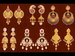 earrings in grt gold earrings designs with weight grt jewellers