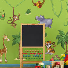 jungle wall stickers childrens jungle animals wall stickers small pack