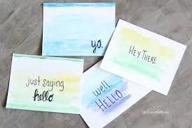 water color cards craft watercolor cards with quotes the craft