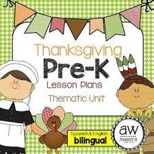 thanksgiving lesson plans thematic unit pre k