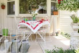 Shabby Chic Patio Furniture by Columbus Bistro Tables And Porch Shabby Chic Style With Bay Window