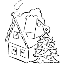 house christmas tree coloring book christmas lights