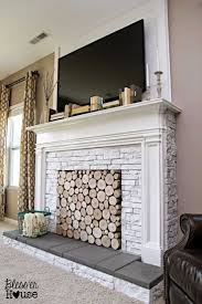 How To Cover Brick Fireplace by Fireplace Cover Up