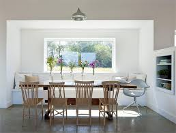 White Wooden Dining Table And Chairs White Meets Wood Dining Room Homeportfolio
