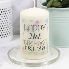 happy birthday candle personalised happy birthday candle by ltd
