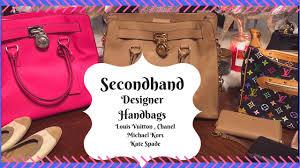 designer secondhand second thrifted designer handbags louis vuitton kors chanel