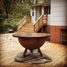 can i safely use a s u0026s fire pit on my deck